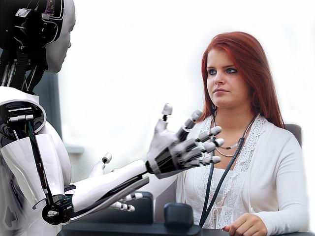 žena a robot